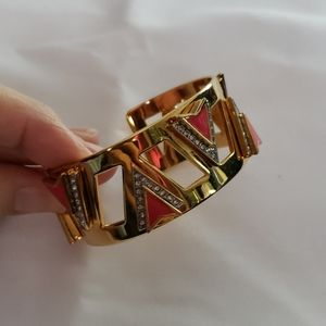 Juicy Couture Pink/Gold Spear Bracelet